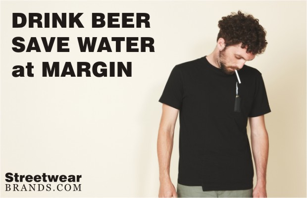 Drink Beer Save Water at Margin London